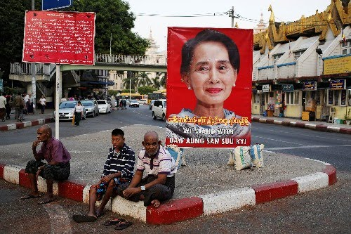 Myanmar's Suu Kyi says supporters a 'source of strength' during genocide hearings